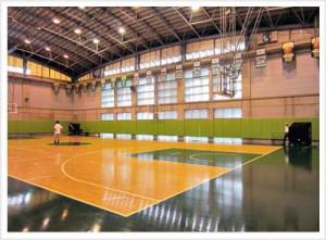 大学の体育館内での使用例